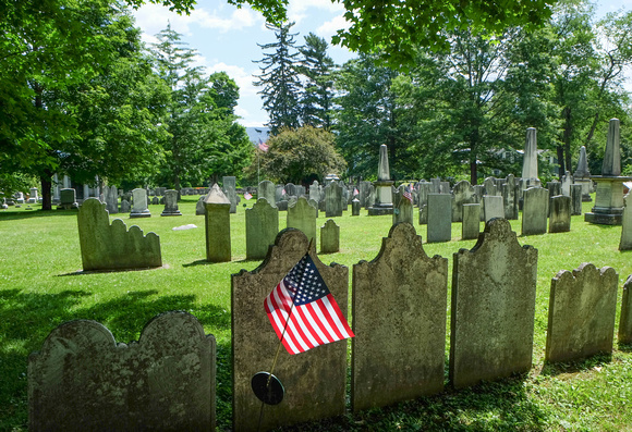 Flag in cemetery, Burlington, VT 2014